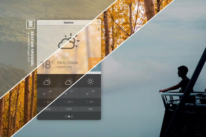 A multi-location weather widget build for Übersicht